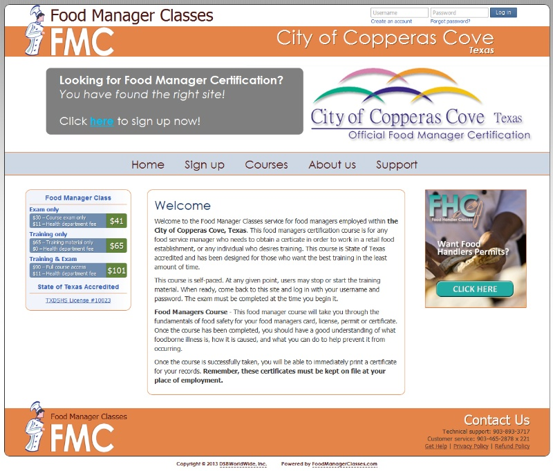 Food Manager Classes Food Manager Certification News