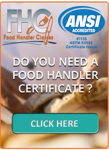 Food Handler Classes certification license permit card